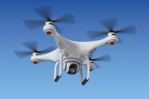 a drone insured by hull coverage drone insurance that is filming at a video shoot