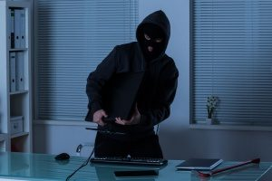 man stealing from his former company that has crime insurance that he did not know about