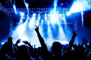 rock concert hosted by a company that is insured by an entertainment insurance package